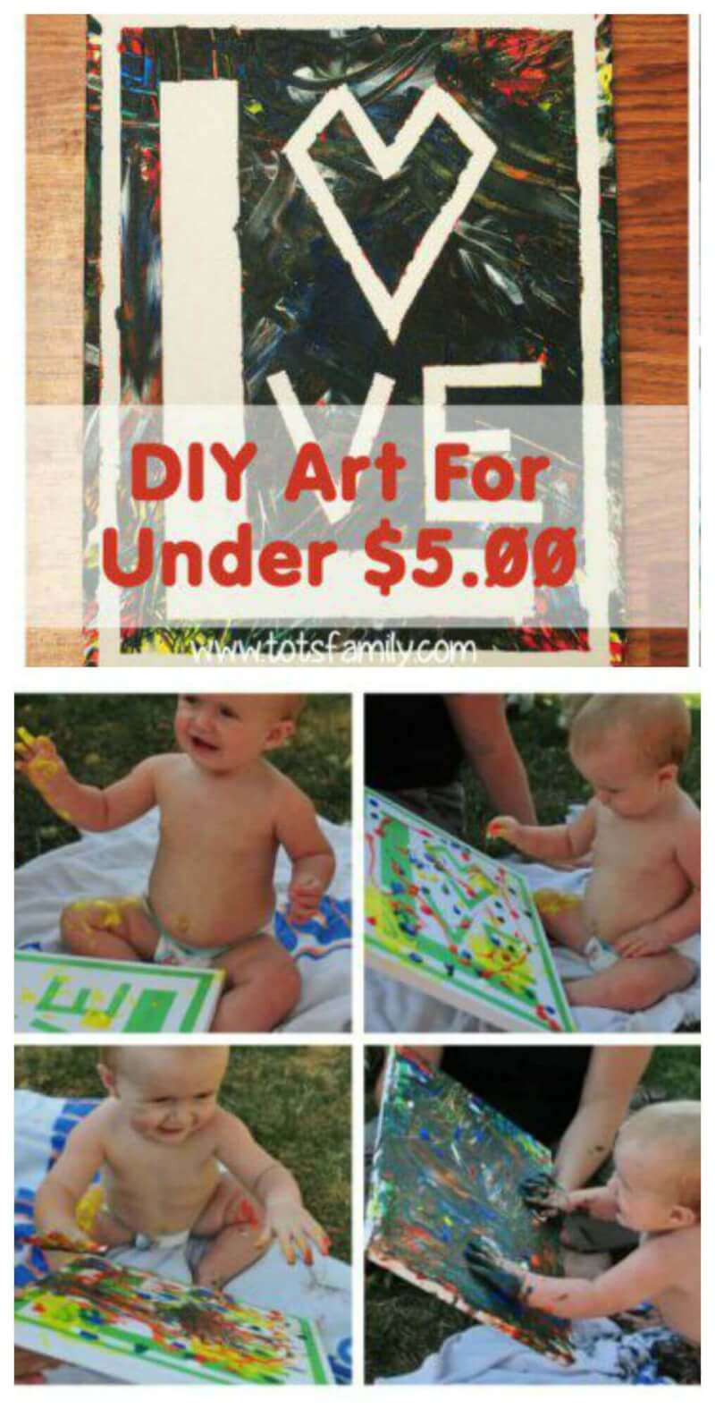 TOTS Family, Parenting, Kids, Food, Crafts, DIY and Travel DIY-Art-For-Under-5-Baby-edition1 DIY Art For Under $5 for Babies Crafts DIY Home Kids  toddler how to diy art diy