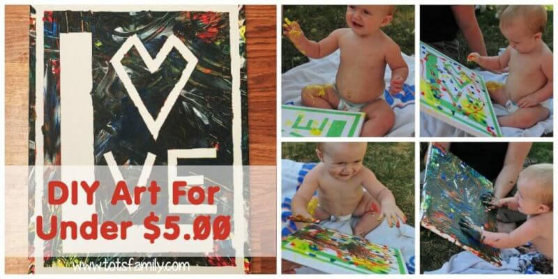 TOTS Family, Parenting, Kids, Food, Crafts, DIY and Travel DIY-Art-For-Under-5 DIY Art For Under $5 for Babies Crafts DIY Home Kids  toddler how to diy art diy