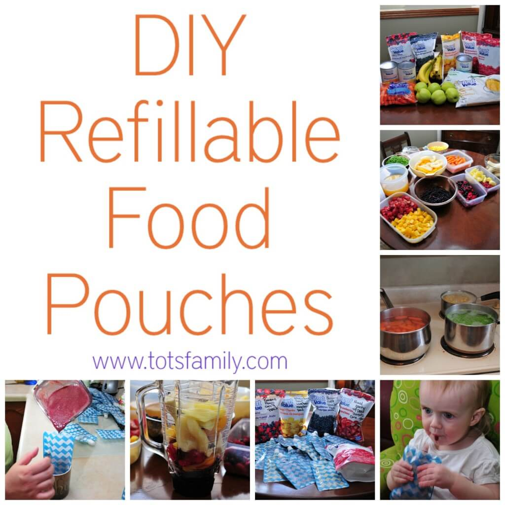 TOTS Family, Parenting, Kids, Food, Crafts, DIY and Travel DIY-Refillable-Food-Pouches DIY Refillable Food Pouches Food Miscellaneous Recipes TOTS Family  toddler healthy living diy