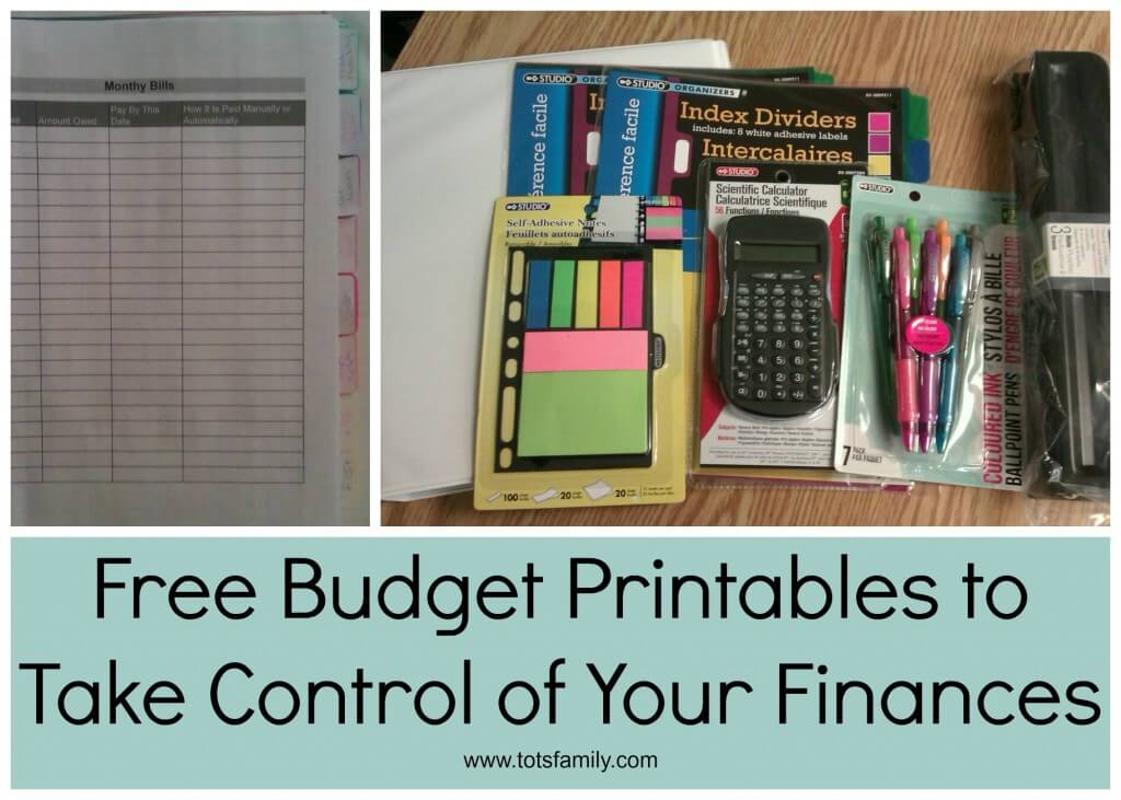 TOTS Family, Parenting, Kids, Food, Crafts, DIY and Travel Free-Budget-Printables-to-Take-Control-of-Your-Finances Free Budget Printables to Take Control of Your Finances Finances Home TOTS Family Uncategorized  printable how to free finances budget
