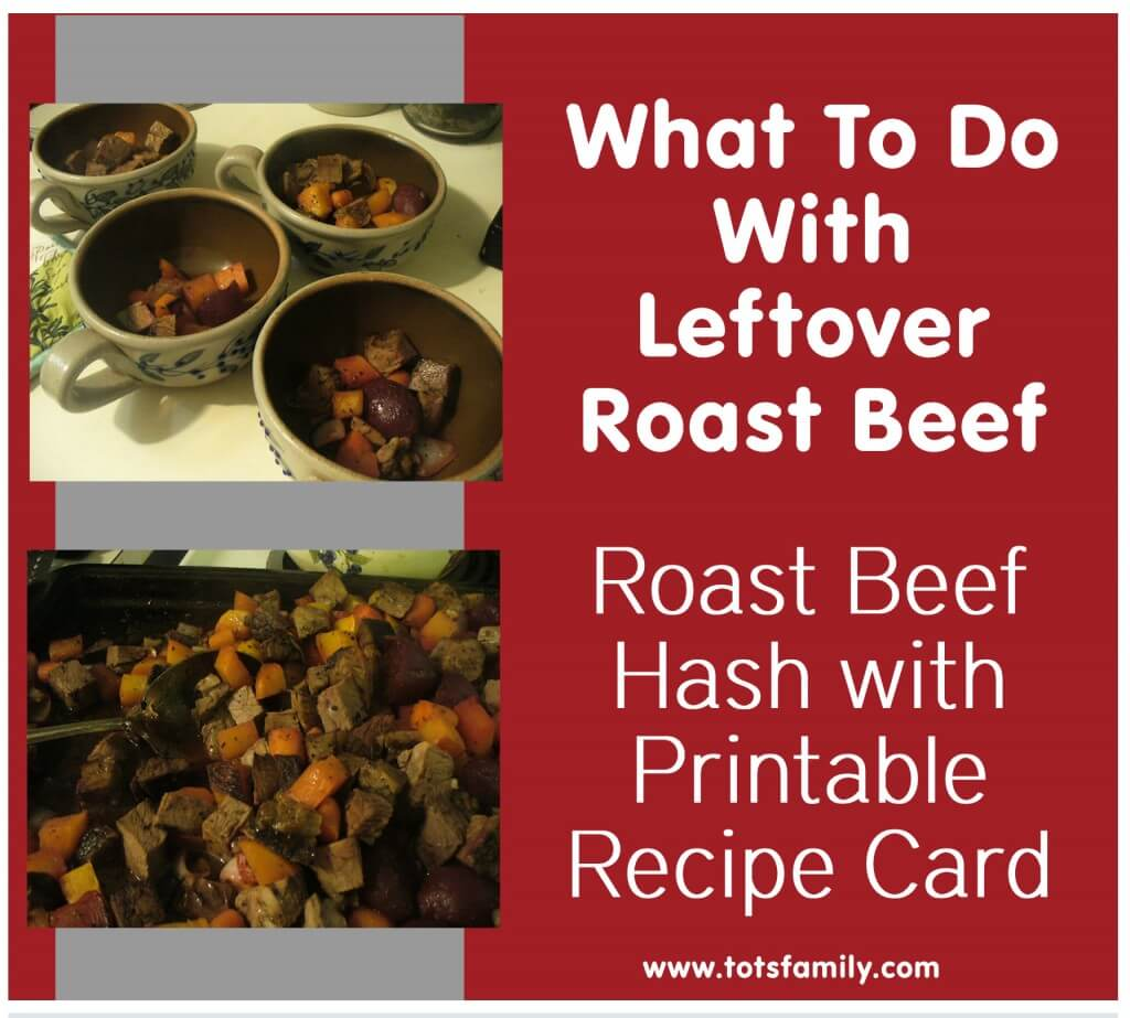 Roast Beef Hash Recipe with Printable Recipe Card