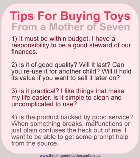 TOTS Family, Parenting, Kids, Food, Crafts, DIY and Travel toytips Toy Buying Tips From a Mother of Seven Home Kids Parenting  toys tips shopping