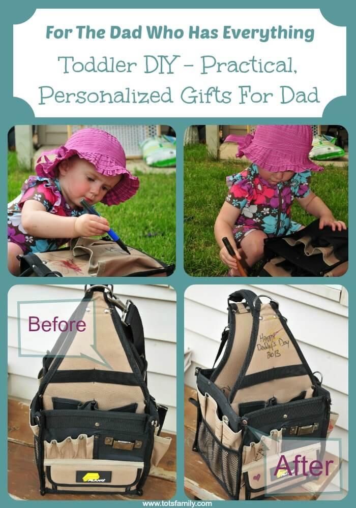 TOTS Family, Parenting, Kids, Food, Crafts, DIY and Travel Toddler-DIY-Practical-Personalized-Gift-For-Dad- For The Dad Who Has Everything. Toddler DIY – Practical, Personalized Gifts For Dad. Home Kids  toddler father's day diy dad