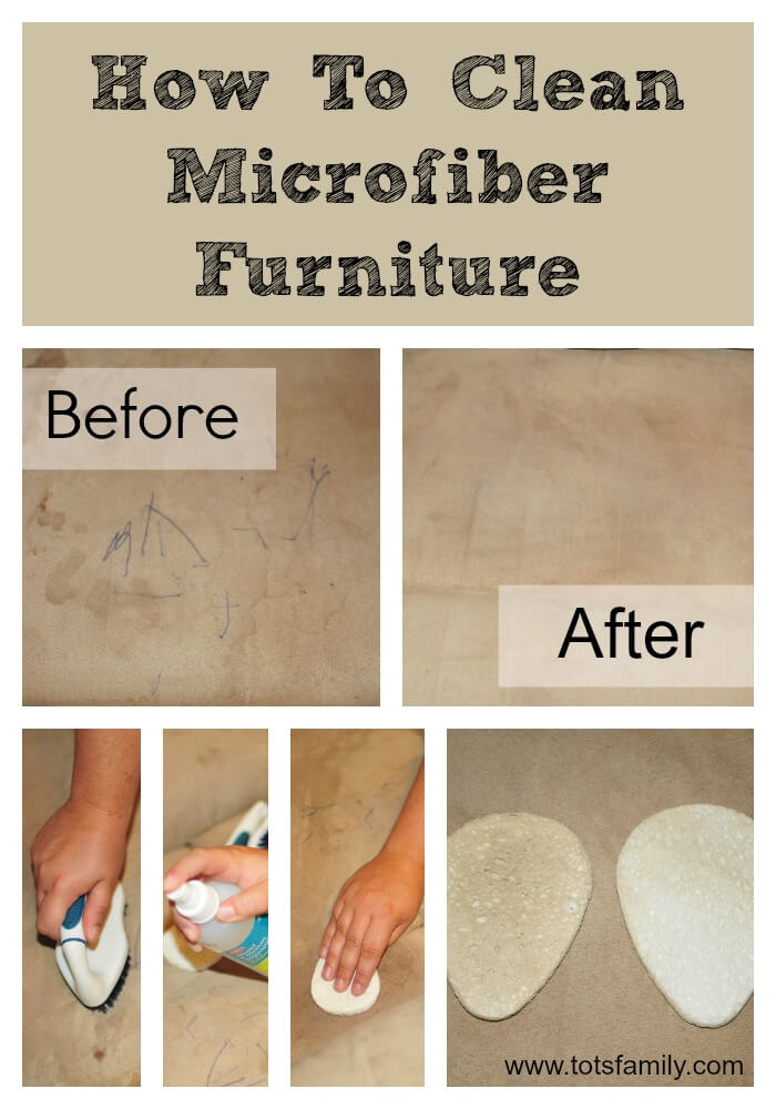 In four simple steps you can learn how to clean microfiber furniture. You do not want to miss seeing the before and after photos in this post.