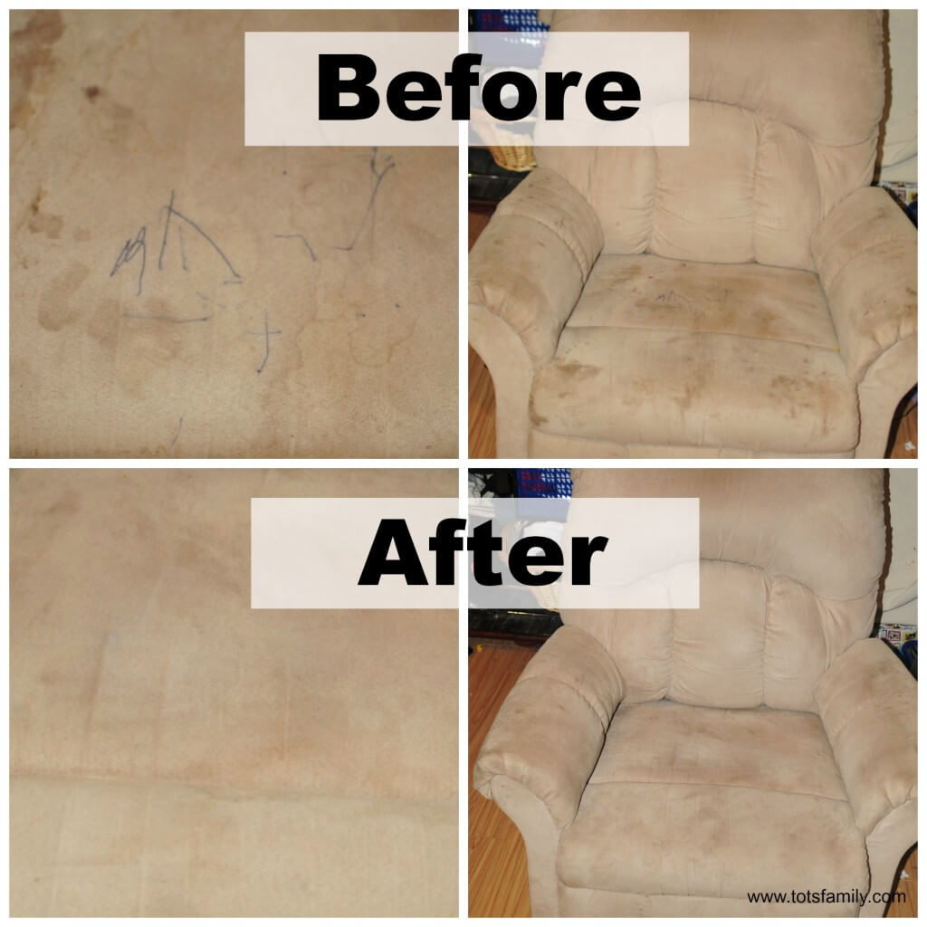 TOTS Family, Parenting, Kids, Food, Crafts, DIY and Travel How-to-clean-microfiber-before-and-after How To Clean Microfiber Furniture - Super Easy and Affordable Home TOTS Family  microfiber how to cleaning