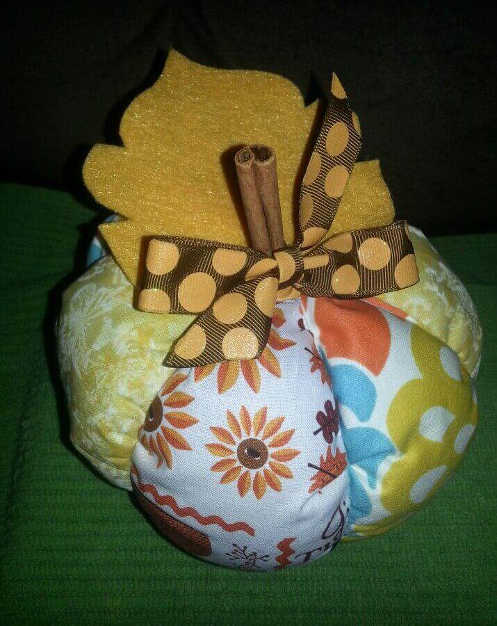 DIY Cinnamon Plush Patchwork Pumpkins #Waverize Finished product