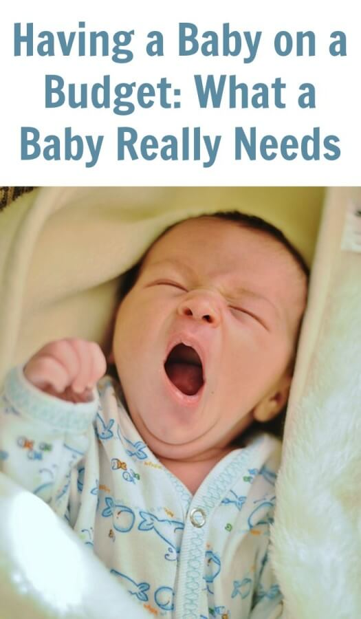 Having a Baby on a Budget: What a Baby Really Needs