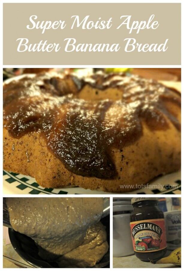 Super Moist Apple Butter Banana Bread with Printable Recipe
