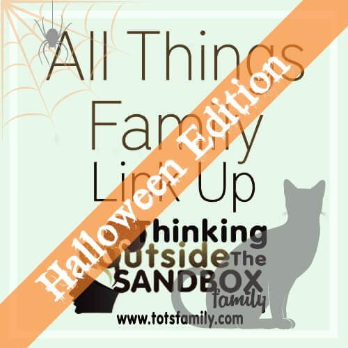TOTS Family, Parenting, Kids, Food, Crafts, DIY and Travel Friday-Link-Up1 Best Halloween Posts - All Things Family Link Up Crafts Parenting TOTS Family  halloween friday link up Costumes costume