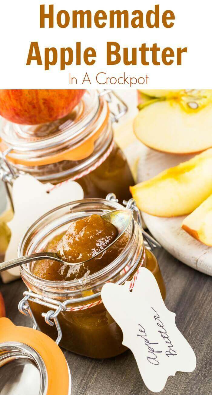 TOTS Family, Parenting, Kids, Food, Crafts, DIY and Travel Homemade-Apple-Butter…-In-A-Crockpot Homemade Apple Butter in a Crockpot Desserts Food Holiday Treats Miscellaneous Recipes TOTS Family  slow cooker recipe homemade crock pot apple butter