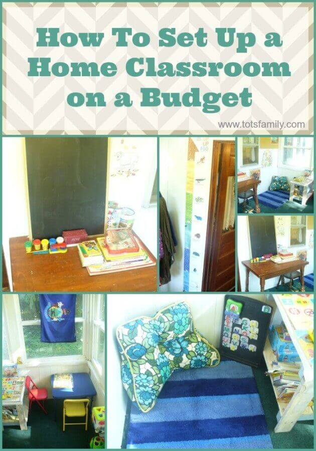 TOTS Family, Parenting, Kids, Food, Crafts, DIY and Travel How-To-Set-Up-a-Home-Classroom-on-a-Budget How To Set Up a Home Classroom on a Budget Kids Learning TOTS Family Uncategorized  mom how to homeschooling homeschool child homeschool classroom