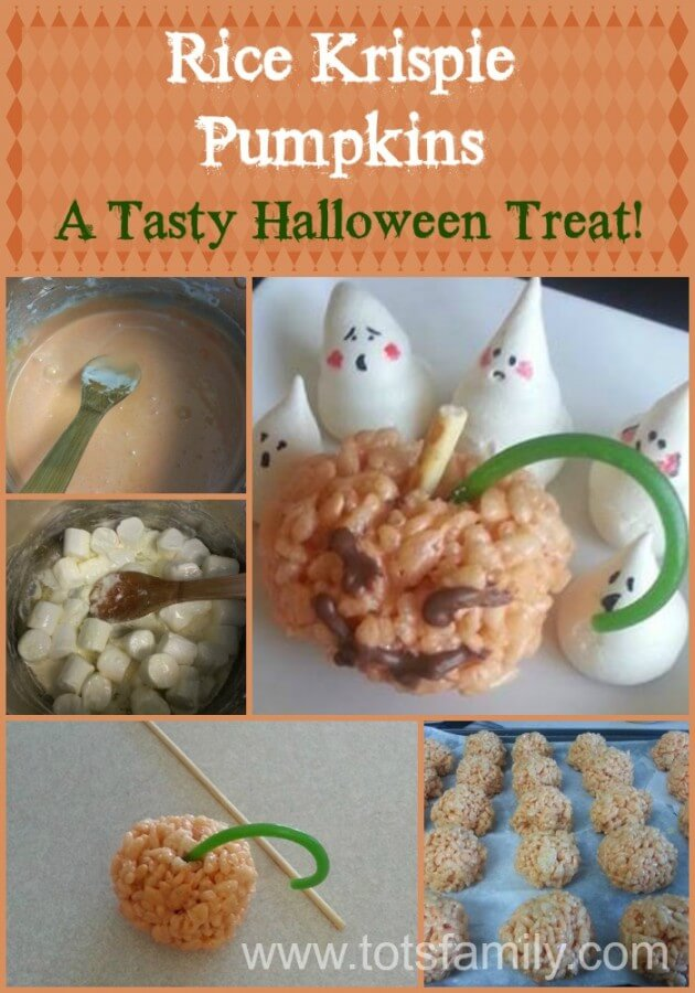 Rice Krispie Pumpkins - A Tasty Halloween Treat!