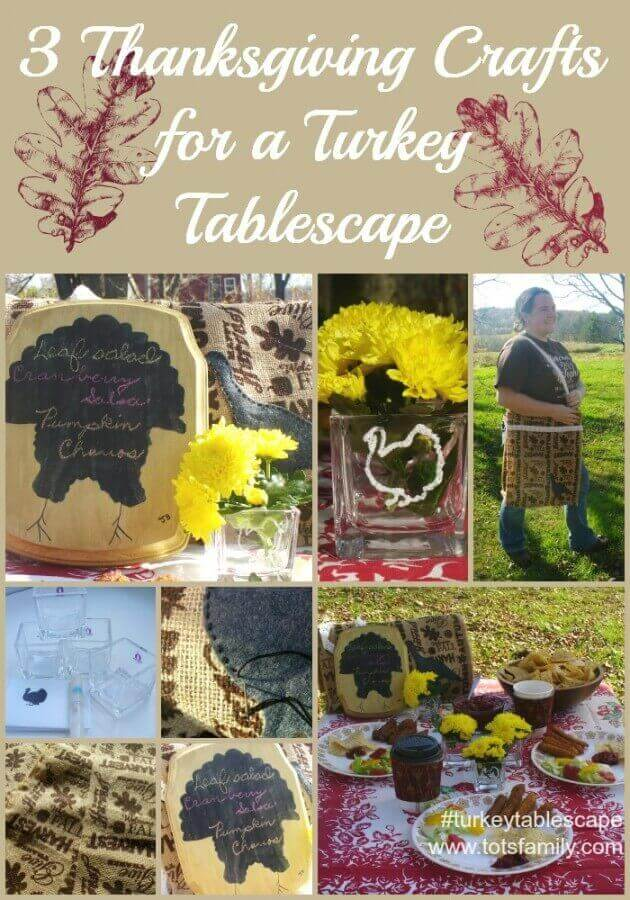 3 Thanksgiving Crafts for a Turkey Tablescape #turkeytablescape