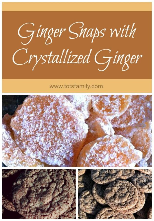 TOTS Family, Parenting, Kids, Food, Crafts, DIY and Travel Ginger-Snaps-with-Crystallized-Ginger Ginger Snaps with Crystallized Ginger Desserts Food  ginger snaps crystallized ginger cookie recipe cookie exchange