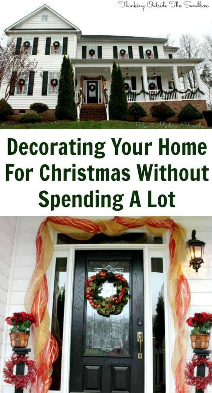 TOTS Family, Parenting, Kids, Food, Crafts, DIY and Travel Decorating-Your-Home-For-Christmas-Without-Spending-A-Lot Decorating Your Home for Christmas without Spending a Lot Home Style TOTS Family  wreath lights holiday entryway diy decorating craft bows