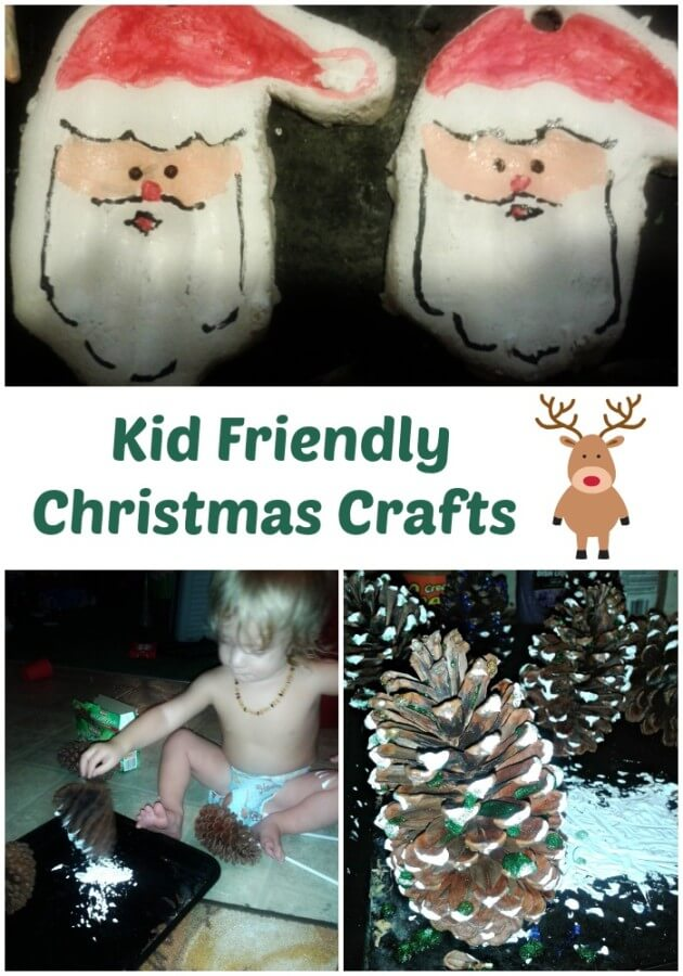 TOTS Family, Parenting, Kids, Food, Crafts, DIY and Travel Kid-Friendly-Christmas-Crafts Toddler DIY - Kid Friendly Christmas Crafts Crafts Kids TOTS Family  toddler crafts pinecone handprint santa diy crafts christmas decorations