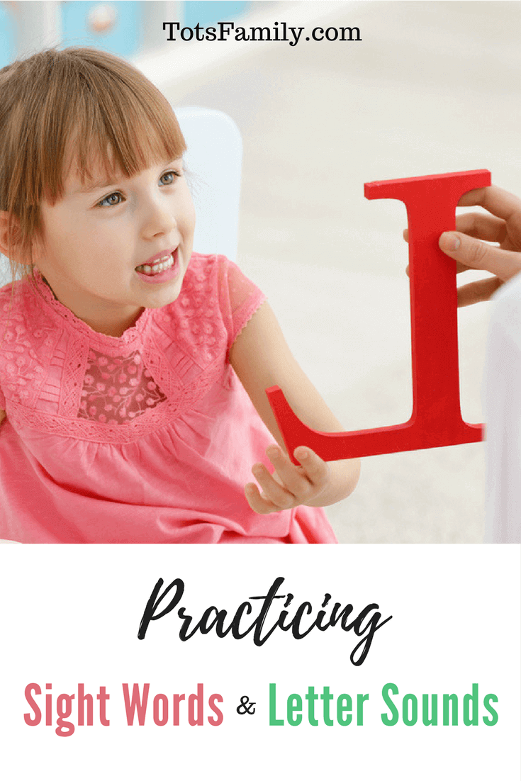 Practicing Sight Words & Letter Sounds. Do you have a Pre-K child? Are they learning their letter sounds or if in Kindergarten their sight words?