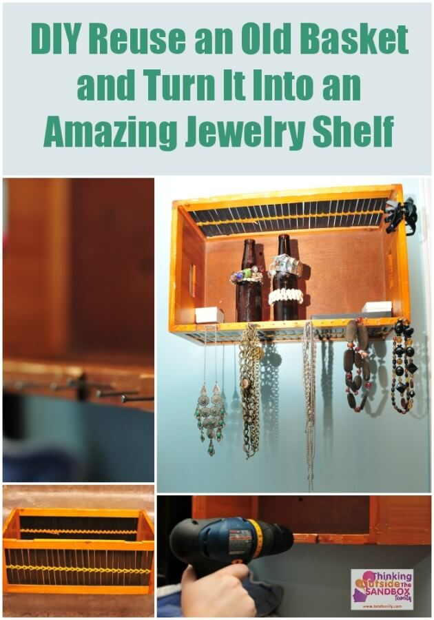TOTS Family, Parenting, Kids, Food, Crafts, DIY and Travel DIY-Reuse-an-Old-Basket-and-Turn-It-Into-an-Amazing-Jewelry-Shelf Reuse an Old Basket and Turn It Into a DIY Amazing Jewelry Shelf Home TOTS Family Uncategorized  storage recycle jewelry diy