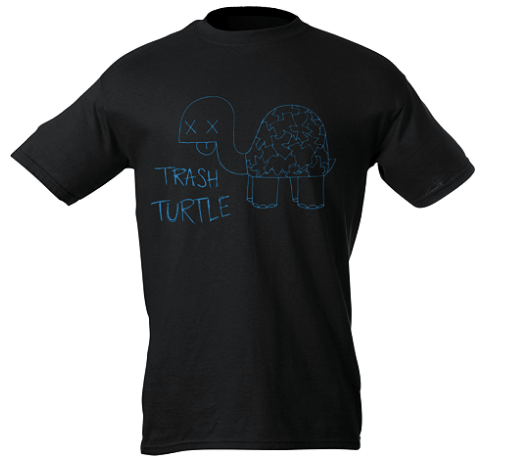 TOTS Family, Parenting, Kids, Food, Crafts, DIY and Travel Turtle-Trash-T-Shirt Win Big with Groupizo's Pin to Win Design Contest! Giveaways  giveaway