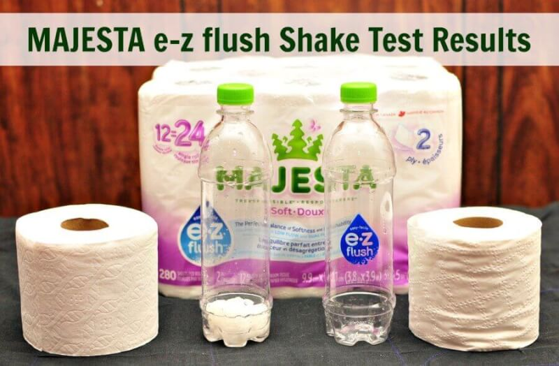 TOTS Family, Parenting, Kids, Food, Crafts, DIY and Travel MAJESTA-e-z-flush-Shake-Test-Results What Toilet Paper Should I Use with a Septic System? #MajestaEZ Home  toilet paper septic