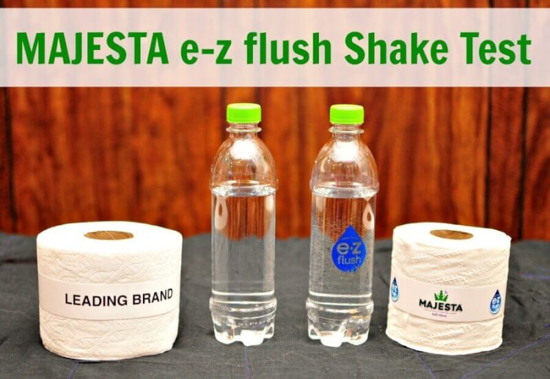 TOTS Family, Parenting, Kids, Food, Crafts, DIY and Travel MAJESTA-e-z-flush-Shake-Test What Toilet Paper Should I Use with a Septic System? #MajestaEZ Home  toilet paper septic