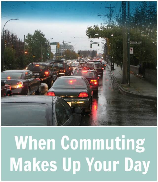 When Commuting Makes up Your Day For me, I commute about 45 minutes per direction per day. I know there are others who commute 1.5 hours or more per direction.