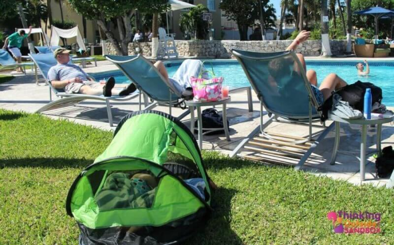 Napping Nicely On Vacation With PeaPod Plus