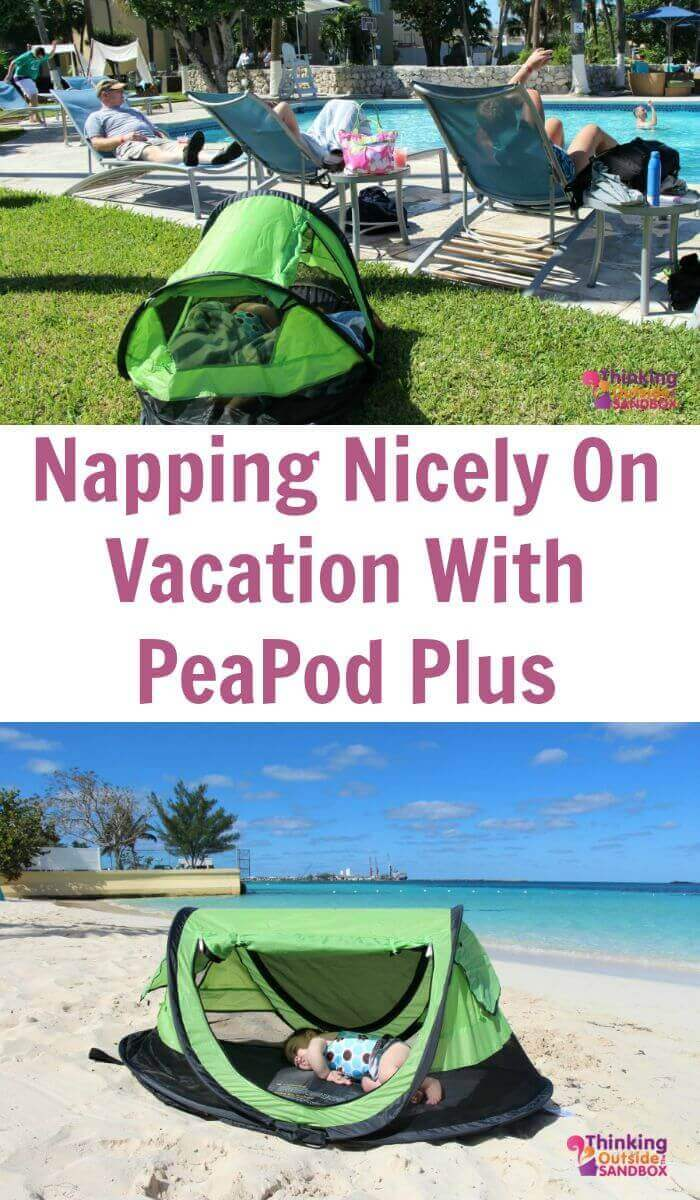 TOTS Family, Parenting, Kids, Food, Crafts, DIY and Travel Napping-Nicely-On-Vacation-With-PeaPod-Plus Napping Nicely On Vacation With PeaPod Plus Kids Parenting TOTS Family Travel Uncategorized  win travel bed travel sleeping peapod nap mat kidco