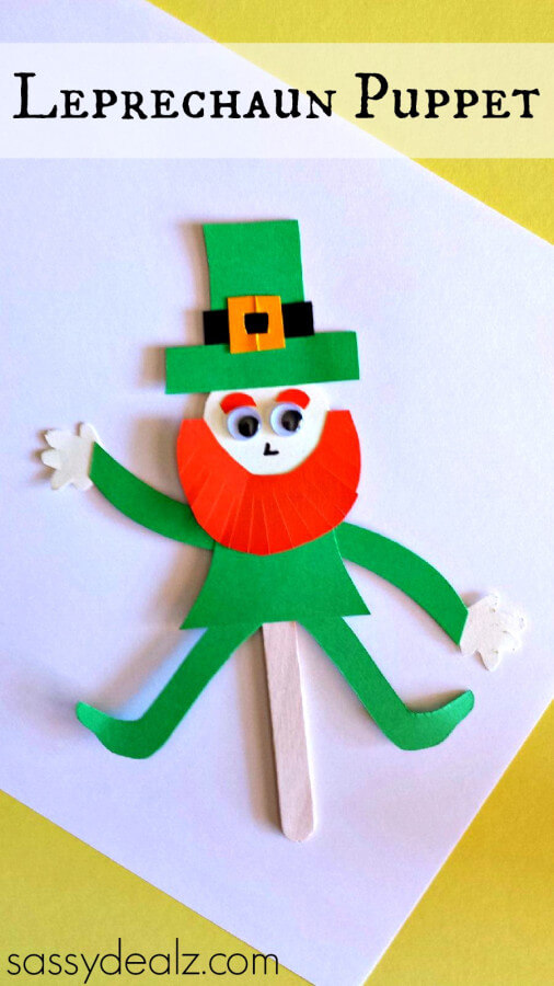 TOTS Family, Parenting, Kids, Food, Crafts, DIY and Travel leprechaun-popsicle-stick-puppet1 St. Patrick's Day Crafts Games and Fun Facts Crafts Holiday Treats Kids TOTS Family Uncategorized  st pats st patricks saint patricks rainbow march 17 irish green diy crafts clover activities