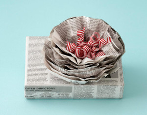 newspaper wrap