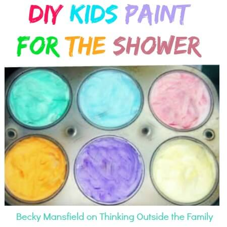 TOTS Family, Parenting, Kids, Food, Crafts, DIY and Travel shower-paint DIY Paint for the Shower Crafts Home Kids TOTS Family  tub shower paint shaving cream painting paint mom kids activities children bath activities