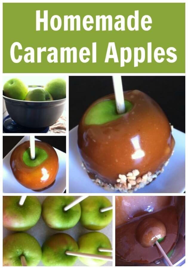 TOTS Family, Parenting, Kids, Food, Crafts, DIY and Travel Homemade-Caramel-Apples-Delicious-and-Easy Homemade Caramel Apples! Delicious and Easy Desserts Food  snack recipe home made from scratch food dessert cook caramel apples caramel apples apple
