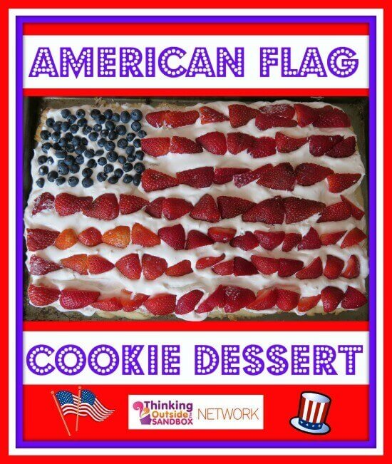 Easy to make American Flag Cookie Dessert!
