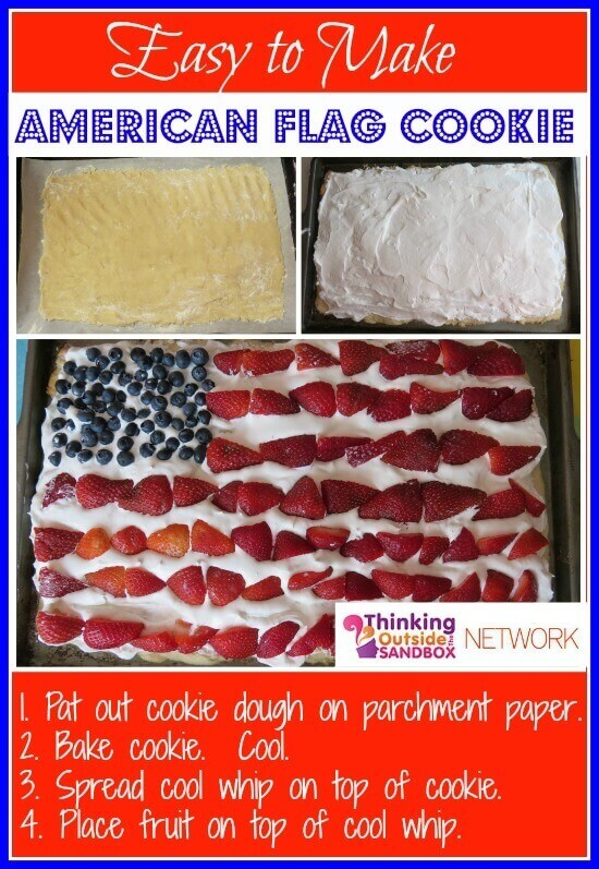 TOTS Family, Parenting, Kids, Food, Crafts, DIY and Travel american-flag-cookie Easy American Flag Cookie Dessert for the Fourth of July Food Holiday Treats TOTS Family  recipes patriotic Fourth of July cookie american flag cookie 4th of july