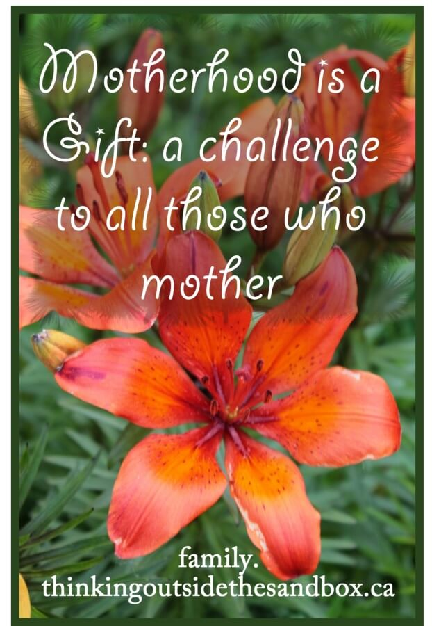 TOTS Family, Parenting, Kids, Food, Crafts, DIY and Travel motherhood-gift1 Motherhood is a Gift: A Challenge to Those Who Mother Parenting  parenting parent mother's day mother mommy mom gift children