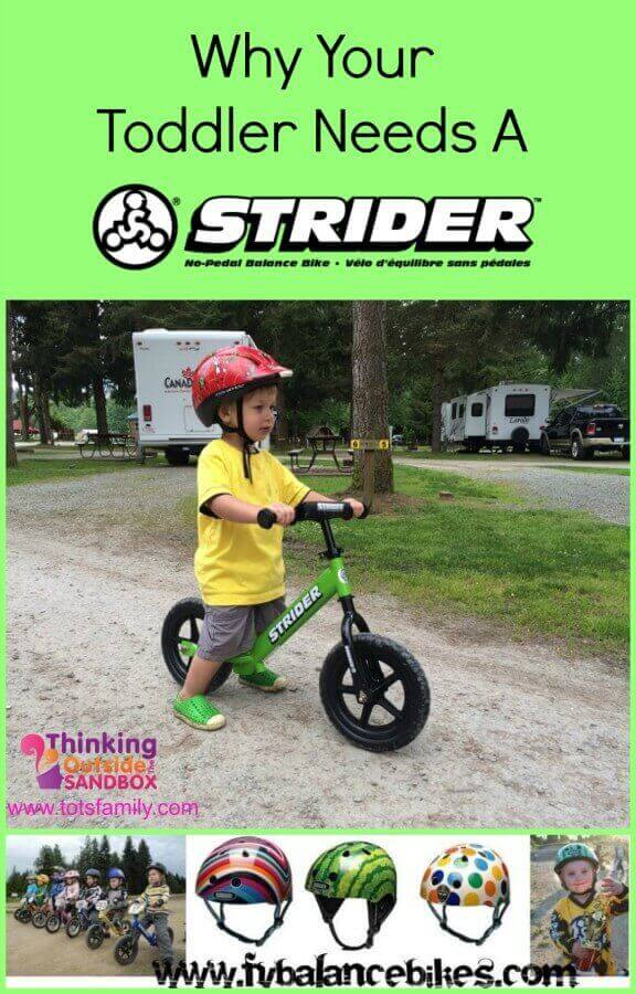 TOTS Family, Parenting, Kids, Food, Crafts, DIY and Travel Strider-Collage Why Your Toddler Needs A Strider Kids Sponsored TOTS Family  toddler strider bike strider preschooler parenting outside biking bike riding balance bike active parenting