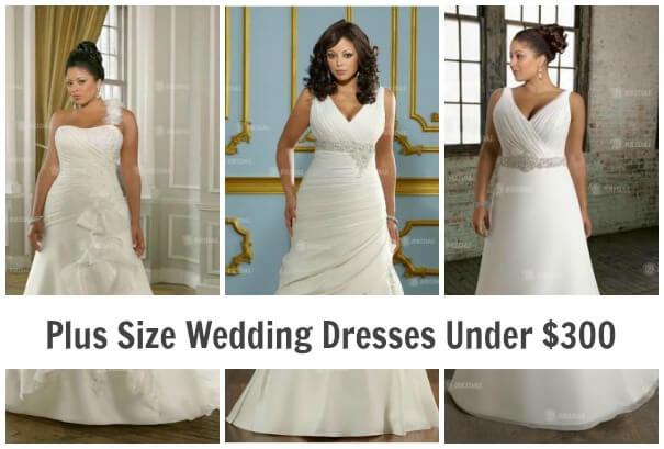 Plus Size Wedding Dresses Under $300
