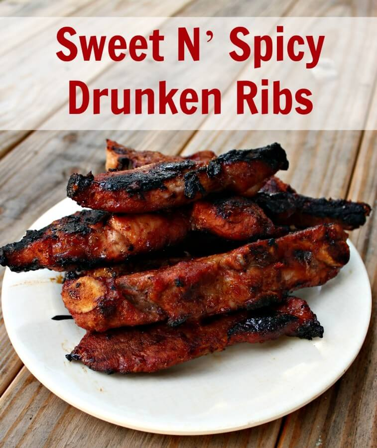 Sweet and Spicy Drunken ribs are a great way to build a better meal.