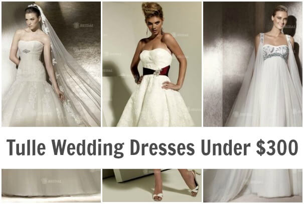 Tulle Wedding Dresses Under $300