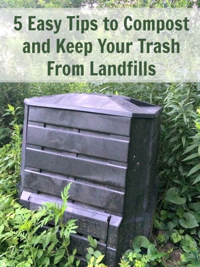 5 Easy Tips to Compost and Keep Your Trash From Landfills