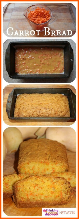 TOTS Family, Parenting, Kids, Food, Crafts, DIY and Travel carrot-bread-collage Easy Carrot Bread Recipe Breads/Soups/Salads Food TOTS Family  hidden vegetables carrot bread carrot bread bake