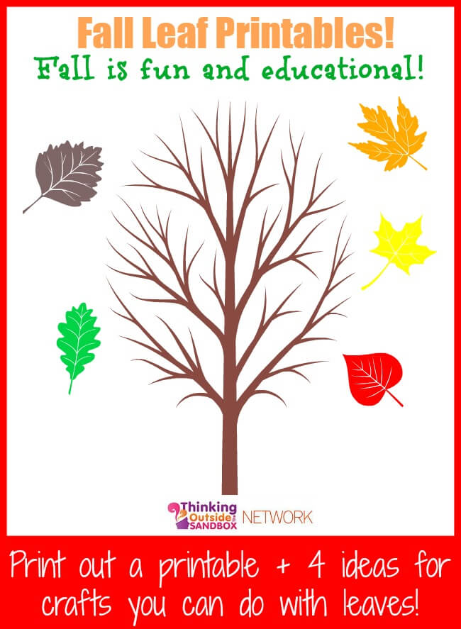 Here are Fall Fun Plus Educational Leaf Printables! Activities you can do with leaves in the fall time