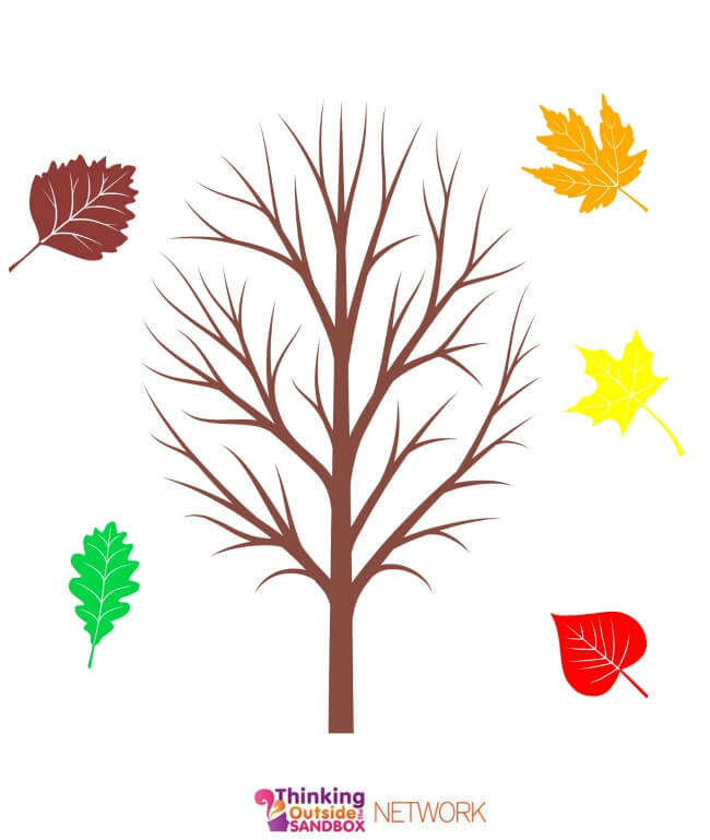 TOTS Family, Parenting, Kids, Food, Crafts, DIY and Travel fall-tree Fall Fun Plus Educational Leaf Printables! Crafts Kids Learning TOTS Family  printables printable Leaf Craft fall crafts fall activities crafts