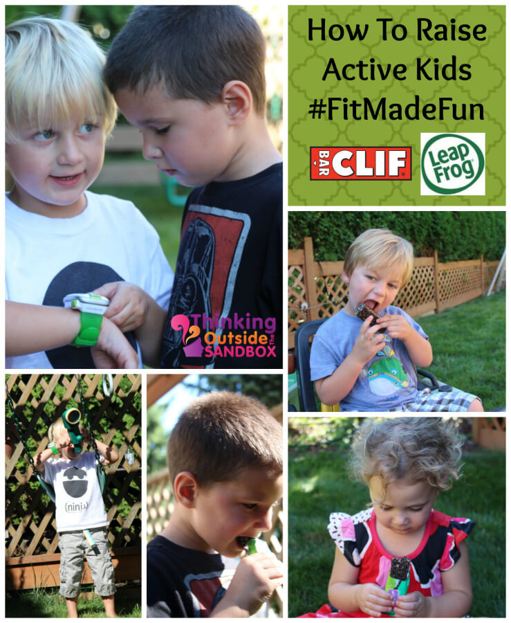TOTS Family, Parenting, Kids, Food, Crafts, DIY and Travel fitmadefuncollage How To Raise Active Kids #FitMadeFun Kids Parenting  leapfrog leapband healthy friends clif bars clif active action