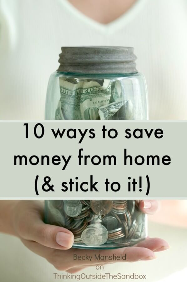 10 ways to save money from home