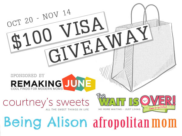 100$ Visa Giveaway - Ending November 14th.