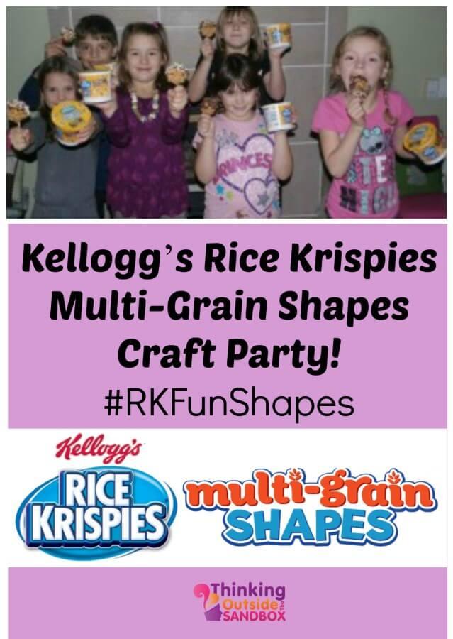 Kellogg's Rice Krispies Multi-Grain Shapes Craft Party! #RKFunShapes