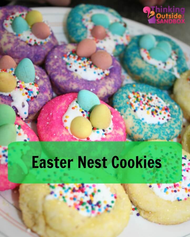 TOTS Family, Parenting, Kids, Food, Crafts, DIY and Travel Easter-Nest-Cookies Easter Nest Cookies Food Holiday Treats TOTS Family Uncategorized  sugar cookies spring cookies recipe nest mini eggs jelly beans easter cookies easter cookies chocolate cadbury