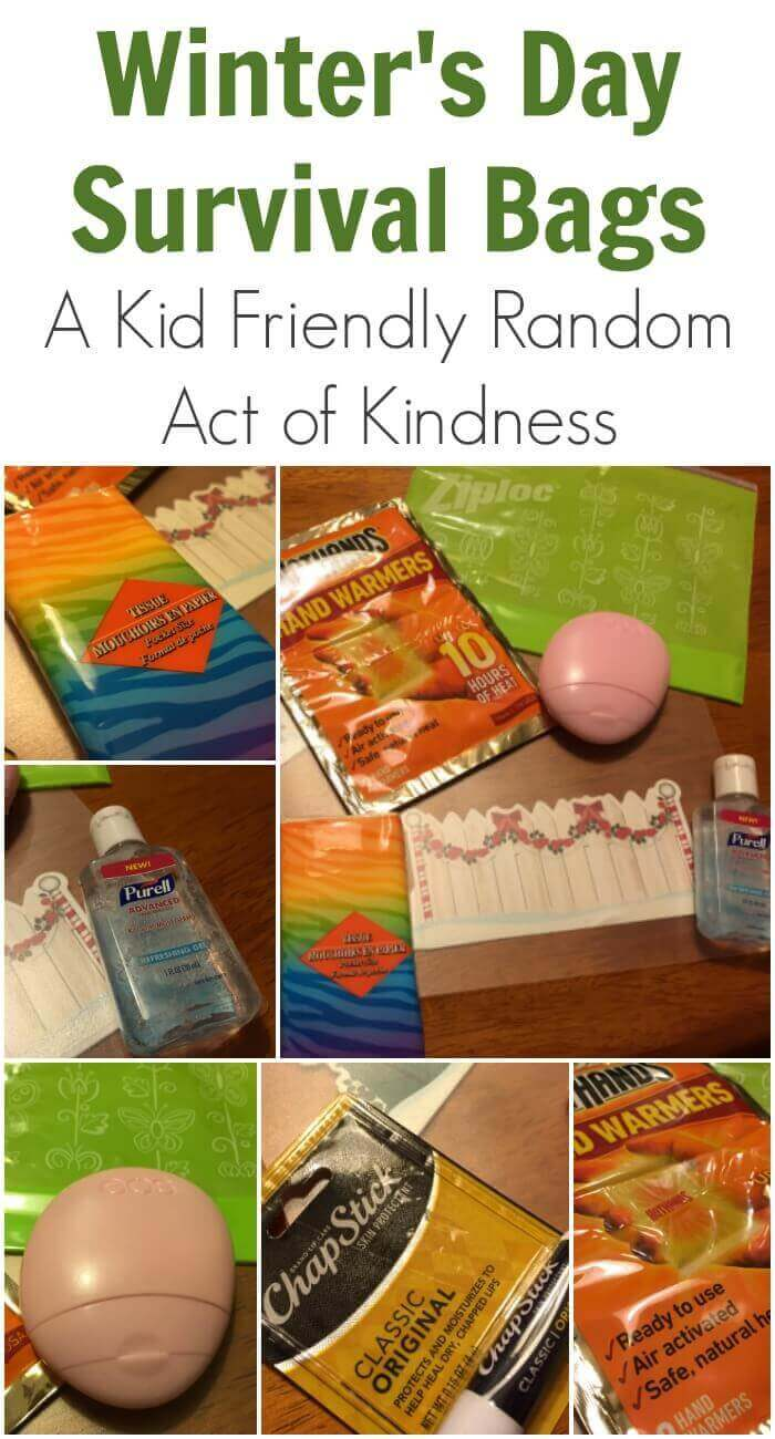 Winter's Day Survival Bags | A Kid Friendly Random Act of Kindness