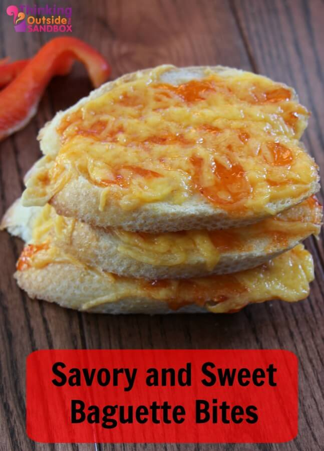 Savory and Sweet Baguette Bites: a delicious recipe for the perfect appetizer.